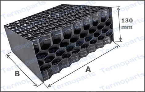 Dimensões do eliminador de gotas TEL 13