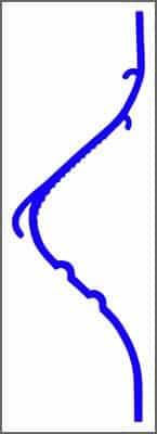 Perfil do eliminador de gotas TEL 14 em PVC para torre de resfriamento